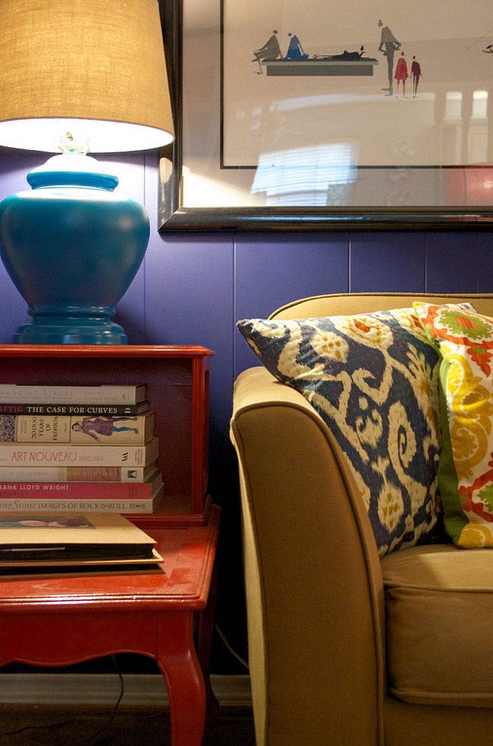 adelaparvu.com despre living colorat in stil eclectic, decorator artista Sarah Greenman (9)