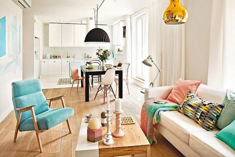adelaparvu.com despre locuinta de familie in nunte pastelate, design interior  Paulina Swist (1)