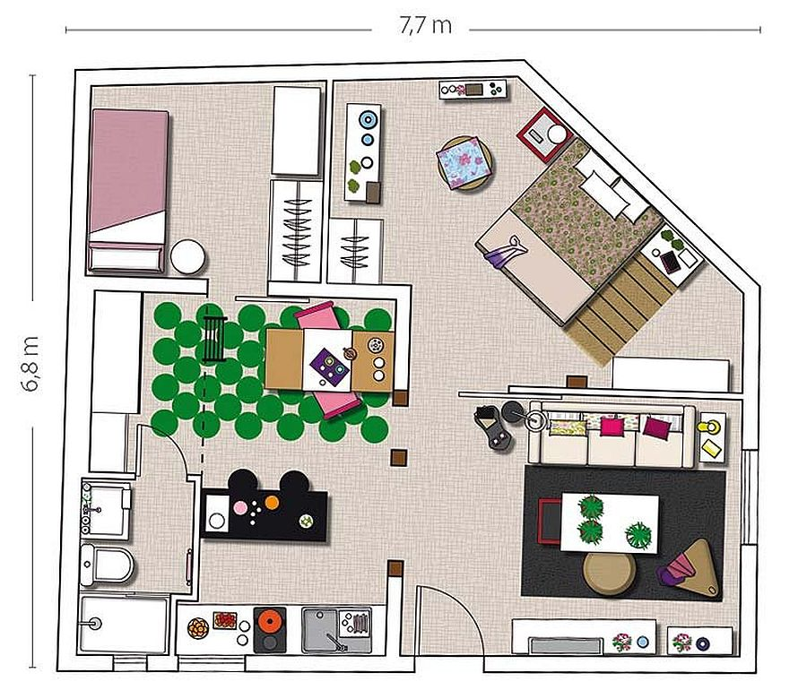 adelaparvu.com despre mansarda boema de 50 mp, design interior Susana Sendin  (16)