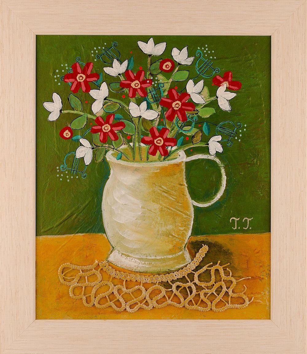 adelaparvu.com despre picturi naive cu macrameuri, artist Teodora Totorean (16)