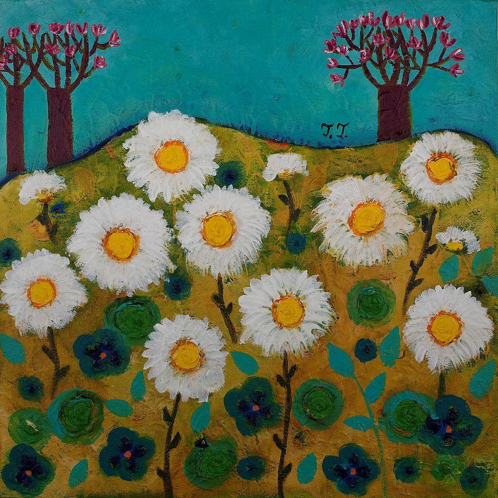 adelaparvu.com despre picturi naive cu macrameuri, artist Teodora Totorean (17)