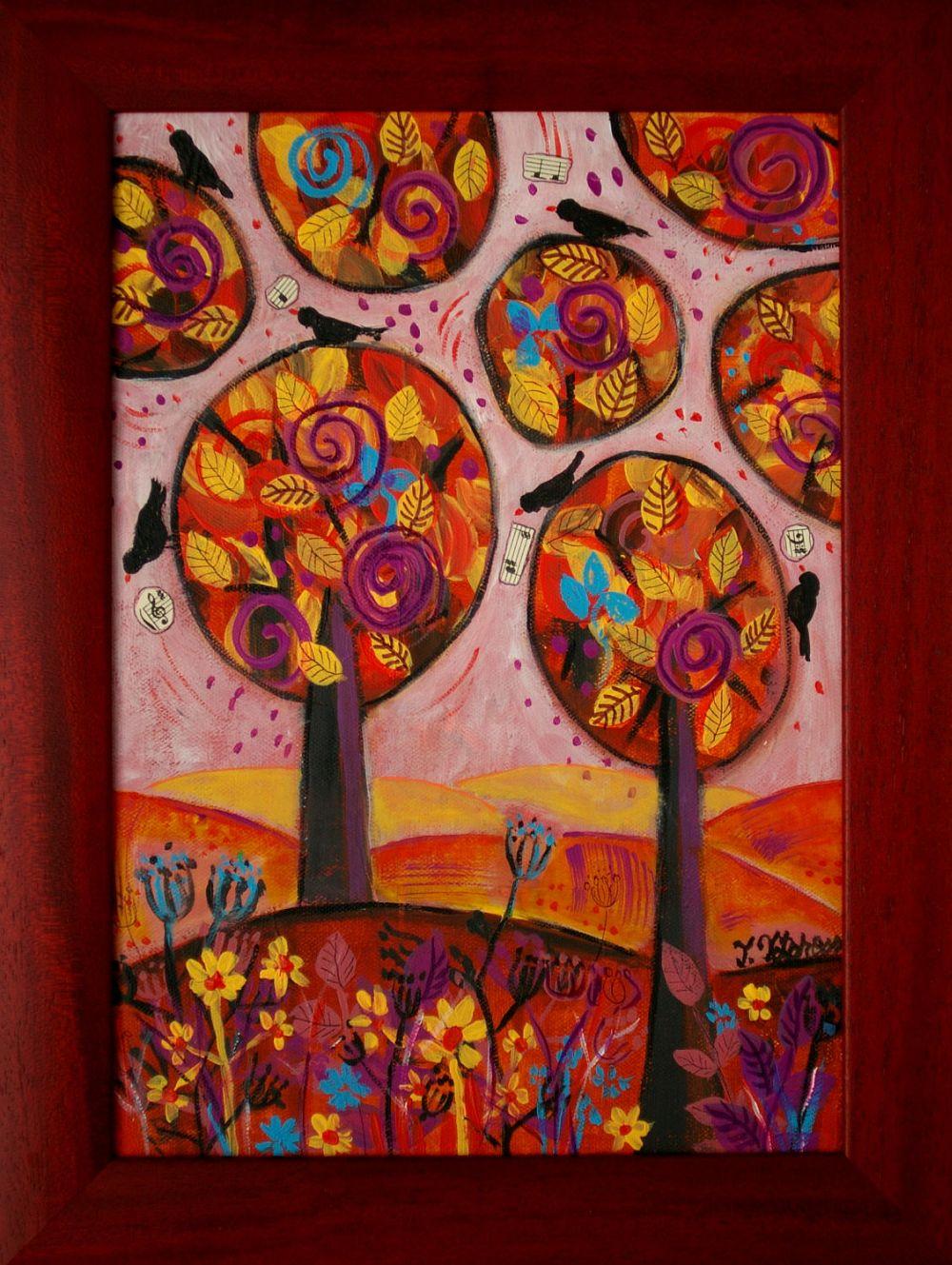 adelaparvu.com despre picturi naive cu macrameuri, artist Teodora Totorean (18)