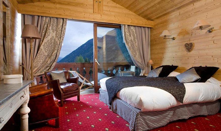 adelaparvu.com despre Hotel les Grands Montets, hotel cu interior rustic Franta (10)
