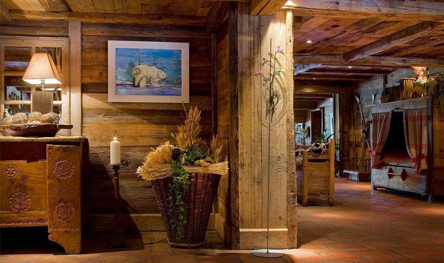 adelaparvu.com despre Hotel les Grands Montets, hotel cu interior rustic Franta (5)