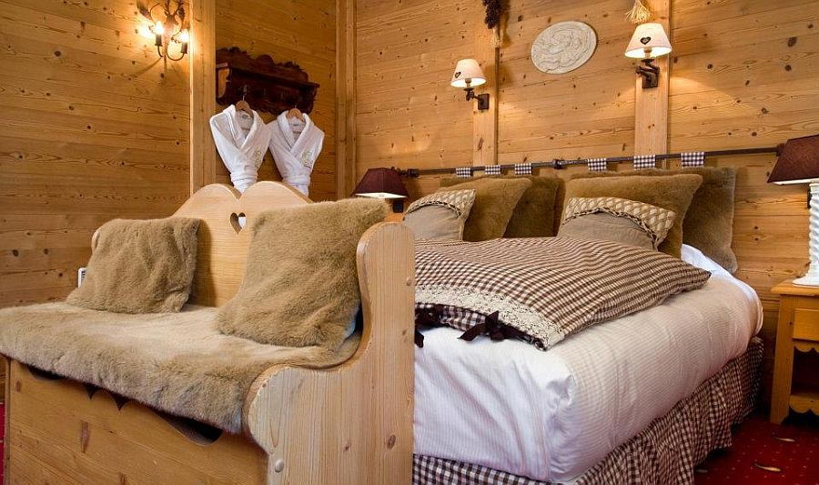 adelaparvu.com despre Hotel les Grands Montets, hotel cu interior rustic Franta (7)