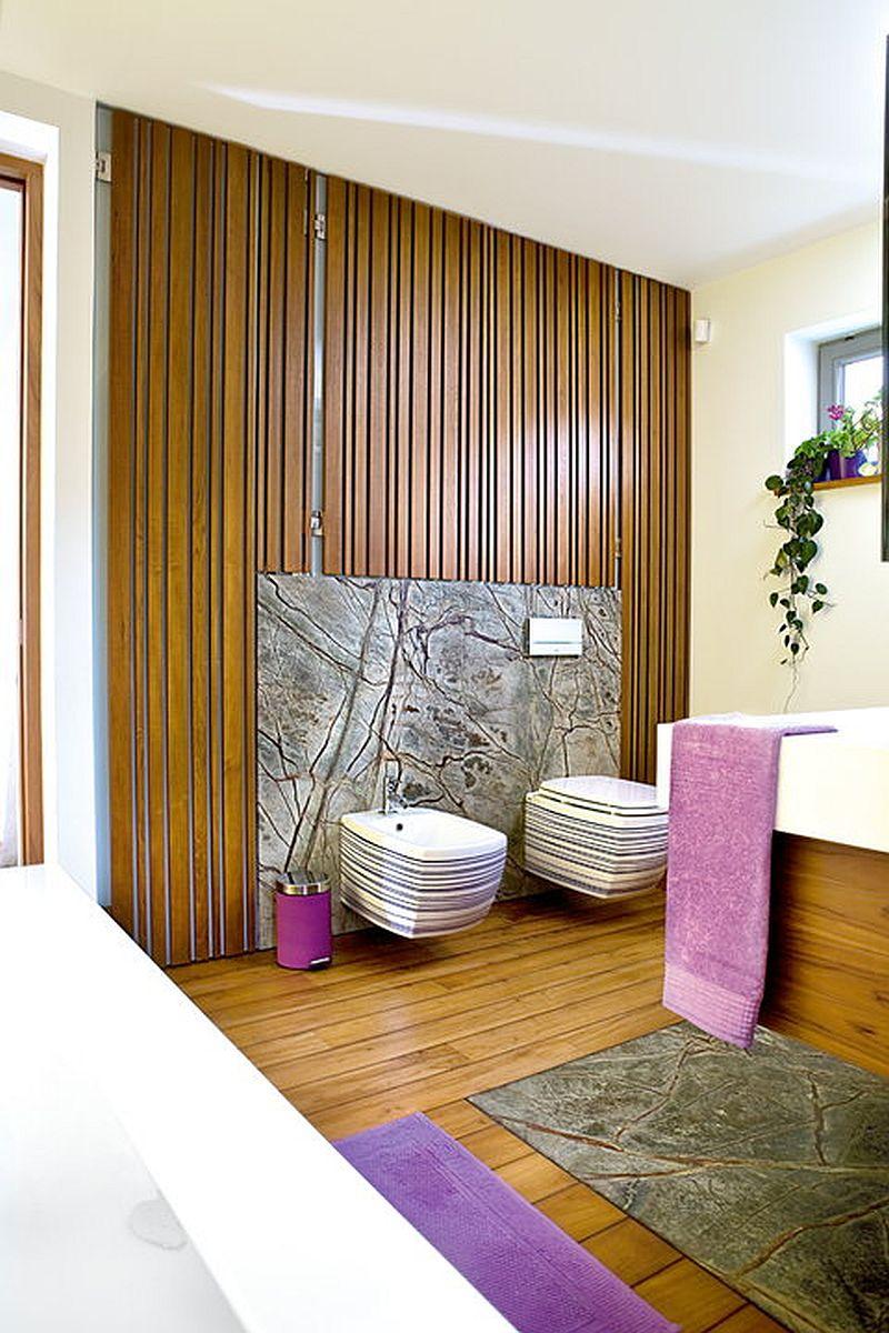 adelaparvu.com despre amenajare moderna cu beton, lemn si accente rosii, Foto Michal Skorupski (5)