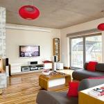 adelaparvu.com despre amenajare moderna cu beton, lemn si accente rosii, Foto Michal Skorupski (8)