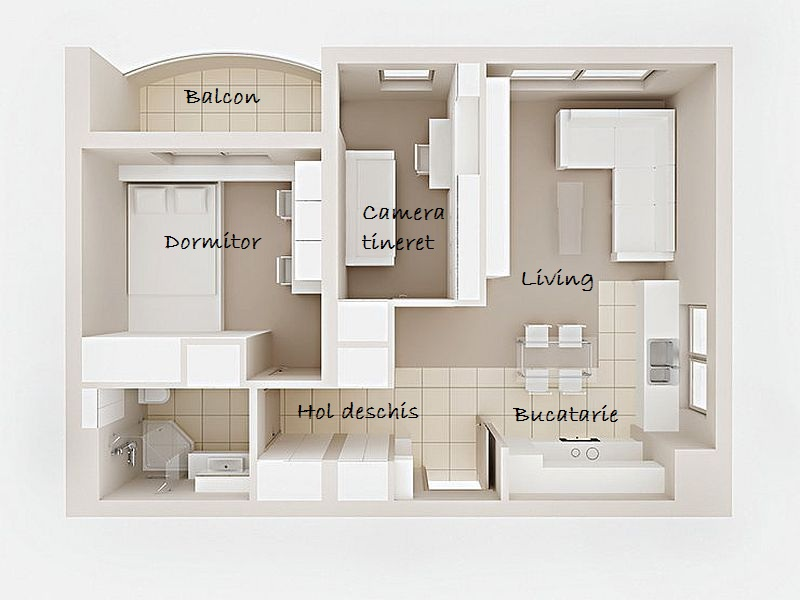 adelaparvu.com despre apartament de 2 camere transformat in unul cu 3 camere, design interior Mikolajska Studio (13)