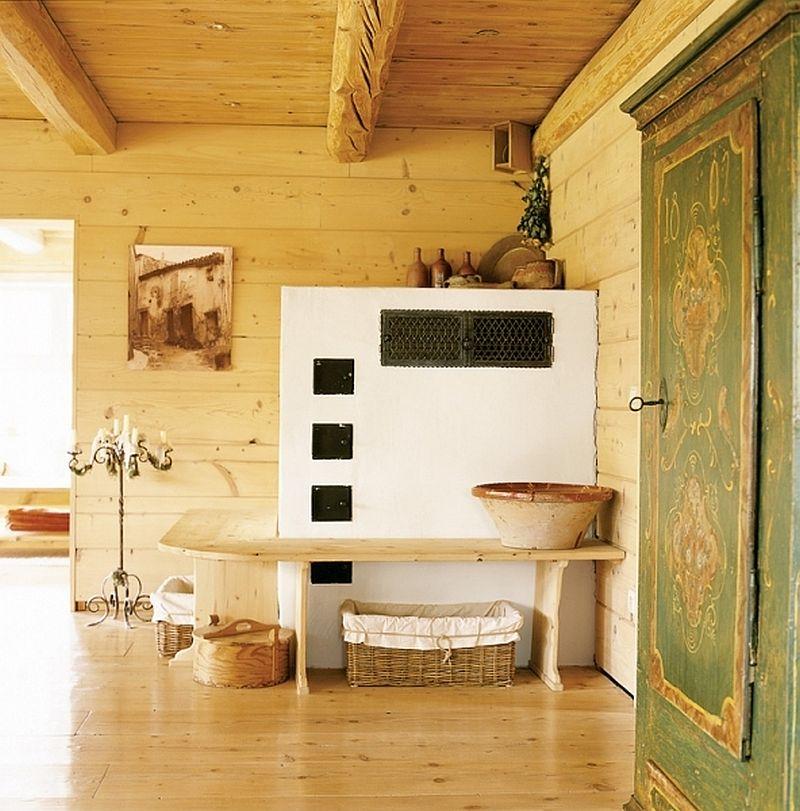 adelaparvu.com despre casa din lemn, interior rustic, casa Belgia (7)