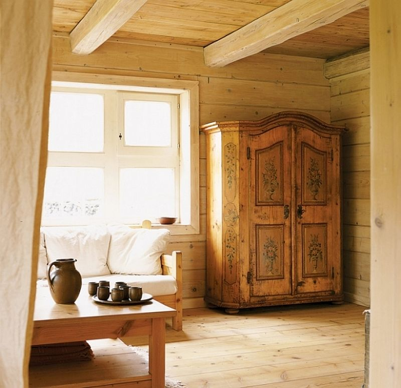 adelaparvu.com despre casa din lemn, interior rustic, casa Belgia (8)