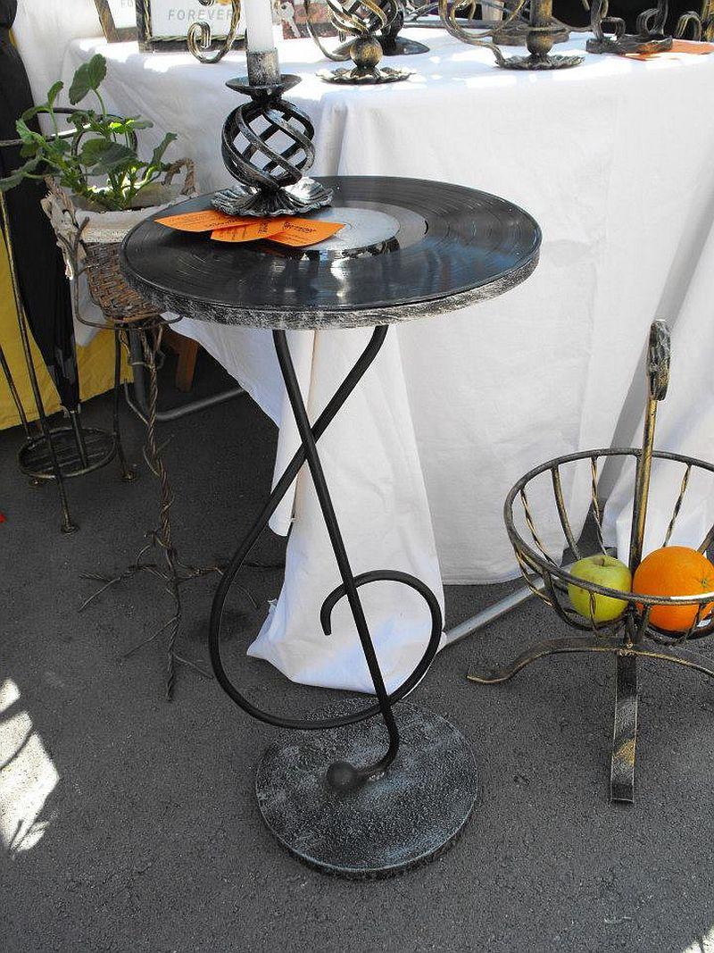 adelaparvu.com despre lampi si mobilier cu discuri din vinil, artizan Ciprian Bilis, Tuforjacom (5)