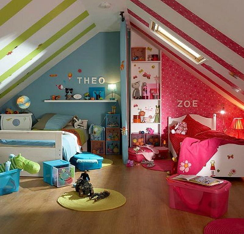 adelaparvu.com despre o singura camera pentru o fata si un baiat, Foto