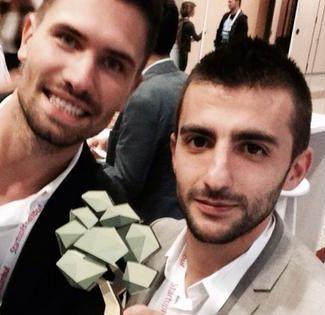 Designerii Anton Suvorov si Ismail Baran (dreapta)
