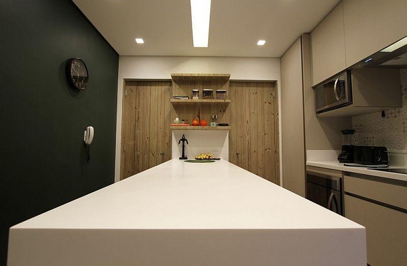 adelaparvu.com despre apartament modern cu pereti imbracati in lemn, arhitecti Veridiana Tamburus si Fabio Storrer (2)