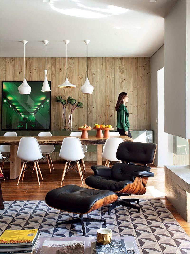 adelaparvu.com despre apartament modern cu pereti imbracati in lemn, arhitecti Veridiana Tamburus si Fabio Storrer (4)
