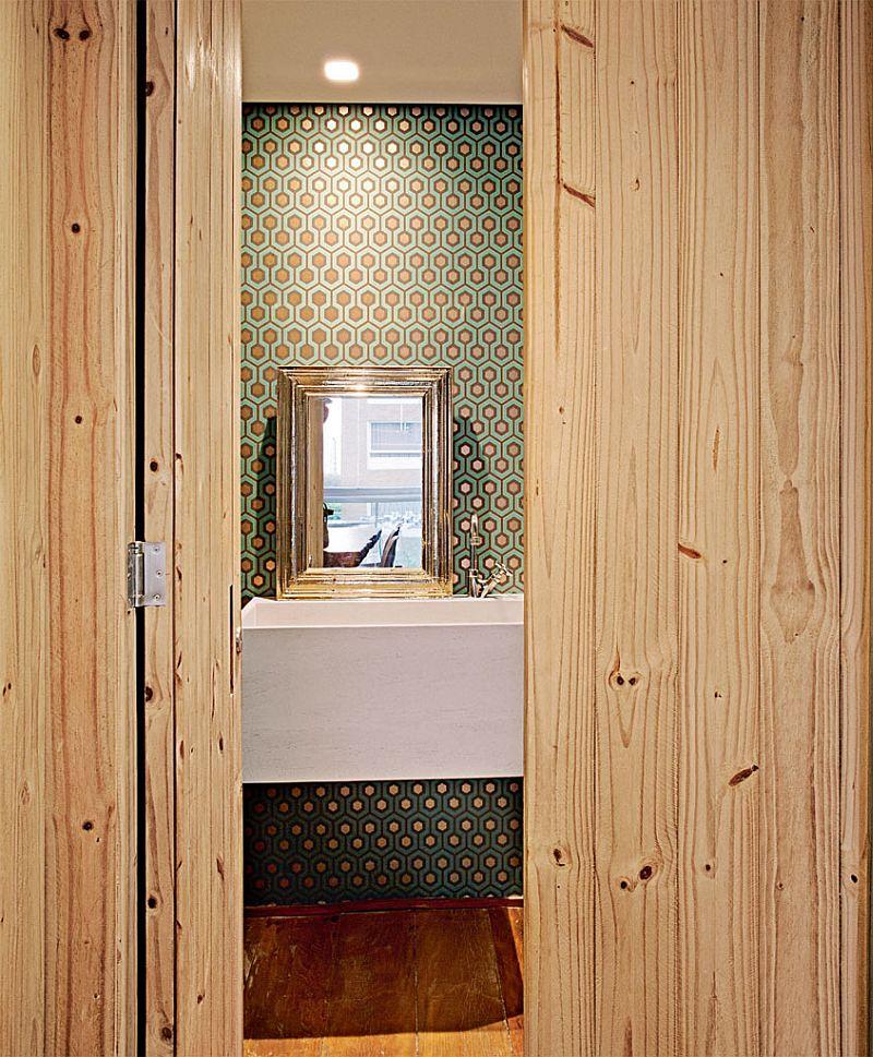 adelaparvu.com despre apartament modern cu pereti imbracati in lemn, arhitecti Veridiana Tamburus si Fabio Storrer (8)