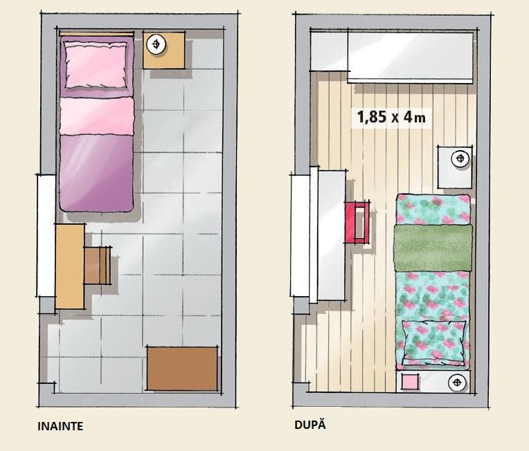 adelaparvu.com despre camera de tineret in 7 mp inainte si dupa amenajare (5)