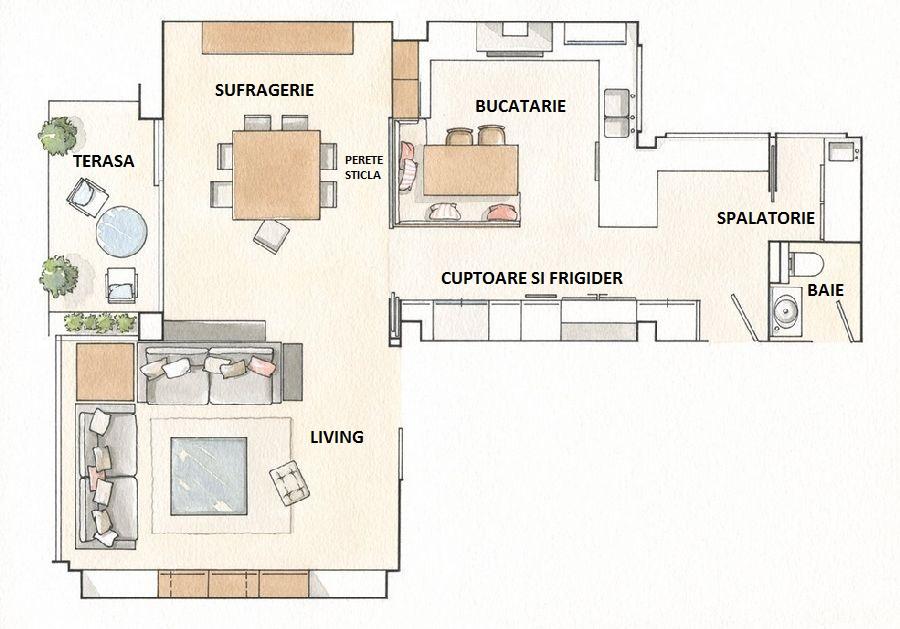 adelaparvu.com despre apartament cu trei camere pentru o familie cu doi copii, design interior Elena Rodríguez, Pler Interioristas, Foto ElMueble (13)