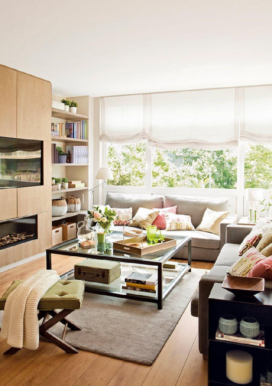 adelaparvu.com despre apartament cu trei camere pentru o familie cu doi copii, design interior Elena Rodríguez, Pler Interioristas, Foto ElMueble (2)