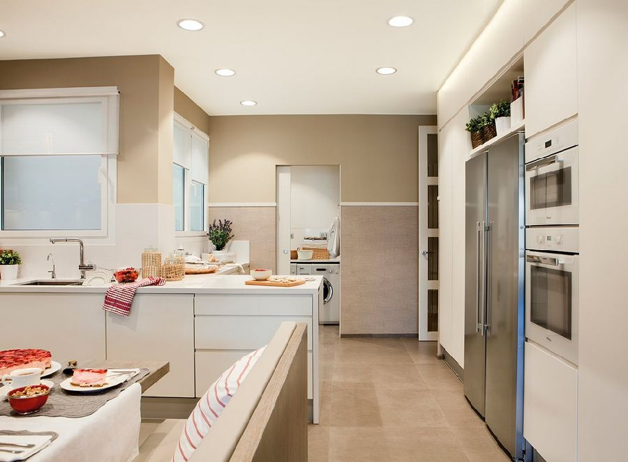 adelaparvu.com despre apartament cu trei camere pentru o familie cu doi copii, design interior Elena Rodríguez, Pler Interioristas, Foto ElMueble (4)