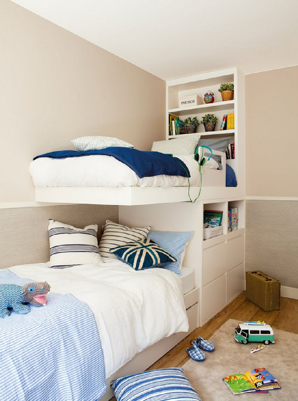 adelaparvu.com despre apartament cu trei camere pentru o familie cu doi copii, design interior Elena Rodríguez, Pler Interioristas, Foto ElMueble (6)