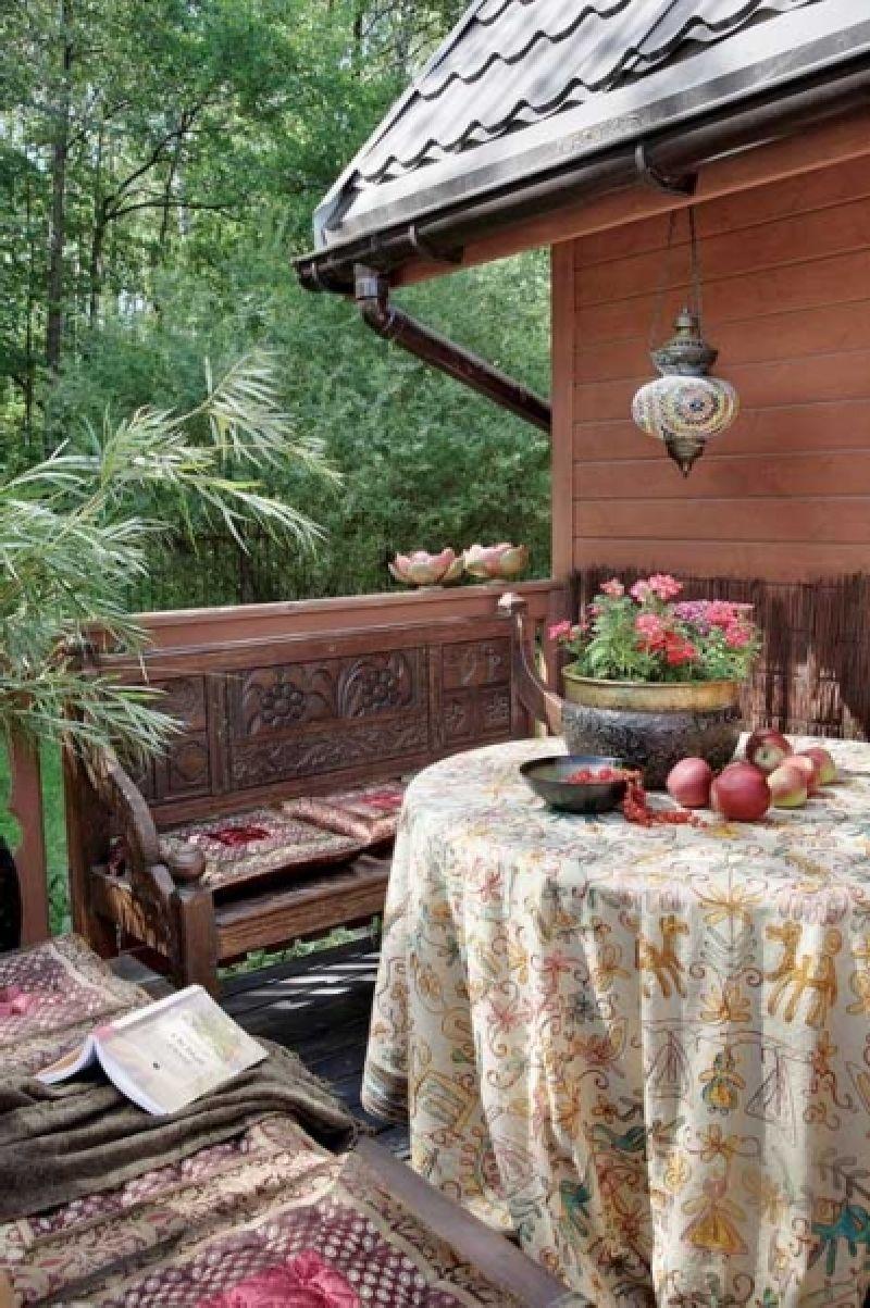 adelaparvu.com despre casa din lemn cu interior oriental, design interor Alice Kolodzie, Foto Marta Czynska, Weranda Country (1)