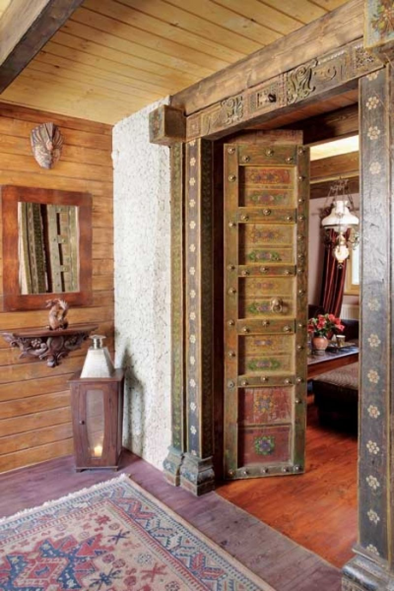 adelaparvu.com despre casa din lemn cu interior oriental, design interor Alice Kolodzie, Foto Marta Czynska, Weranda Country (10)