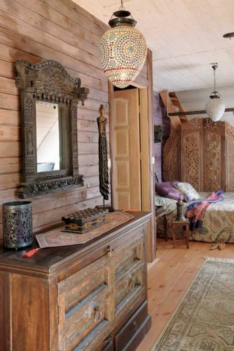 adelaparvu.com despre casa din lemn cu interior oriental, design interor Alice Kolodzie, Foto Marta Czynska, Weranda Country (14)