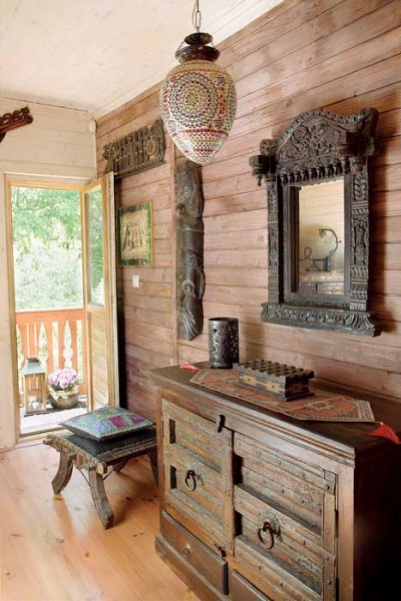 adelaparvu.com despre casa din lemn cu interior oriental, design interor Alice Kolodzie, Foto Marta Czynska, Weranda Country (15)