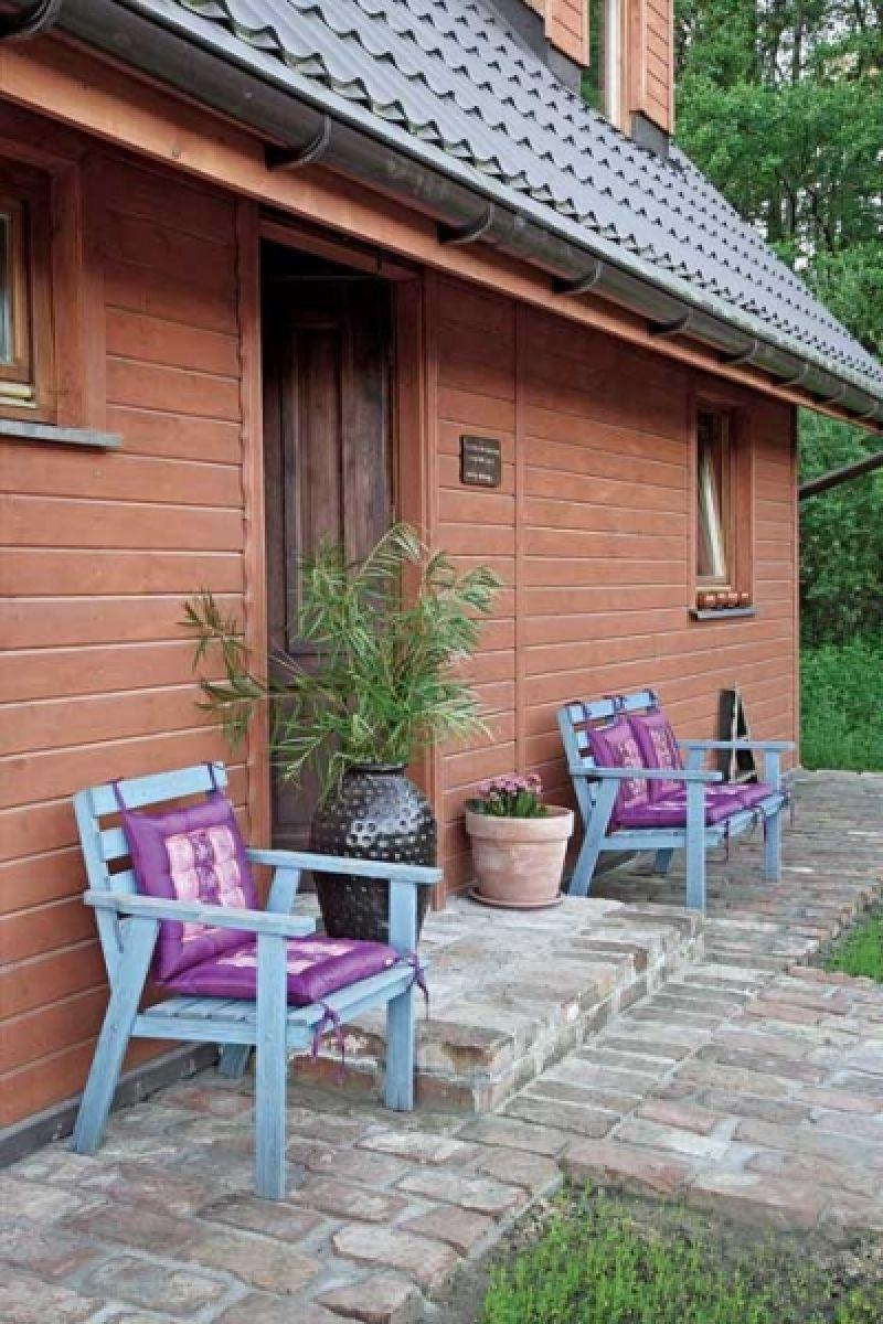 adelaparvu.com despre casa din lemn cu interior oriental, design interor Alice Kolodzie, Foto Marta Czynska, Weranda Country (23)