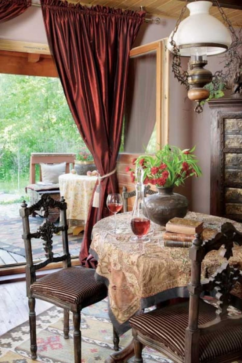 adelaparvu.com despre casa din lemn cu interior oriental, design interor Alice Kolodzie, Foto Marta Czynska, Weranda Country (5)