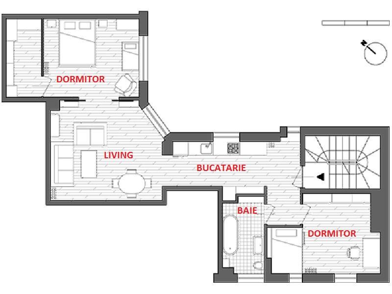 adelaparvu.com despre locuinta cu bucatarie pe hol, 80 mp, arhitect Dorota Janusiewicz, Foto Marcin Czechowicz (10)