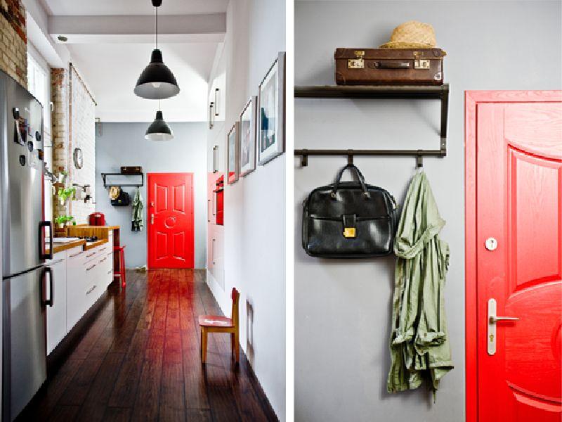 adelaparvu.com despre locuinta cu bucatarie pe hol, 80 mp, arhitect Dorota Janusiewicz, Foto Marcin Czechowicz (7)