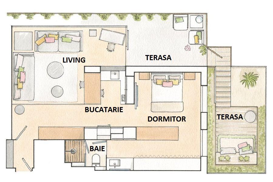 adelaparvu.com despre locuinta de bloc 53 mp, design interior Emma Masana, arhitect Antonio Cortines, Foto ElMueble (11)