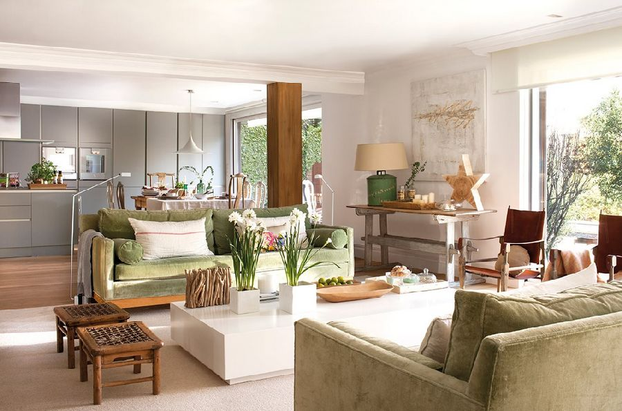 adelaparvu.com despre casa cu ferestre mari, inspirata de gradina, decorator Nela San Juan Galatas, Foto ElMueble (7)
