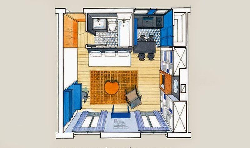 adelaparvu.com despre garsoniera de 30 mp in Paris, designer interior Marianne Evens, Foto AD Russia (19)