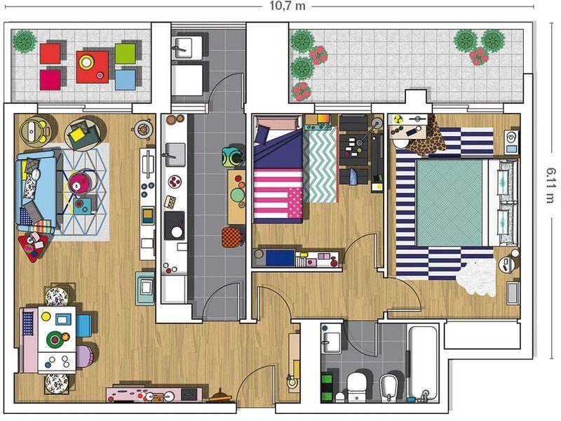 adelaparvu.com despre amenajare locuinta de trei camere, designer Pili Molina, Foto MiCasa (21)