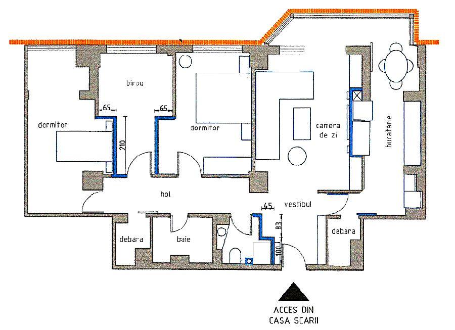 Planul apartamentului după modificare