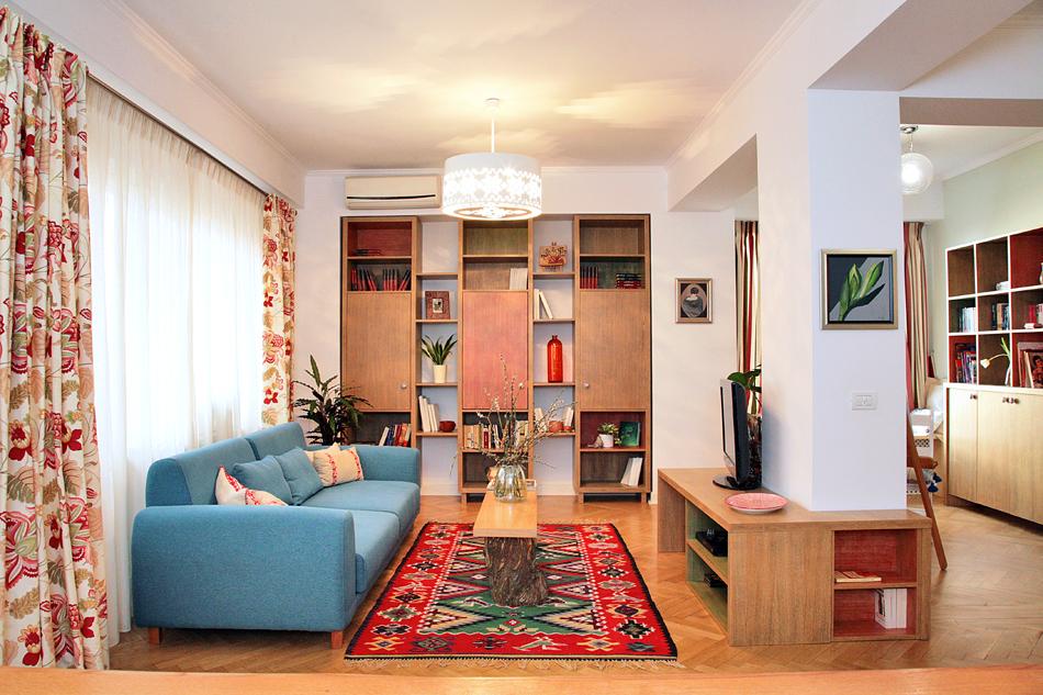 adelaparvu.com despre apartament de trei camere amenajat in stil traditional romanesc reinterpretat, design interior Valdecor, Alia Bakutayan si Daniel Tufis (1)