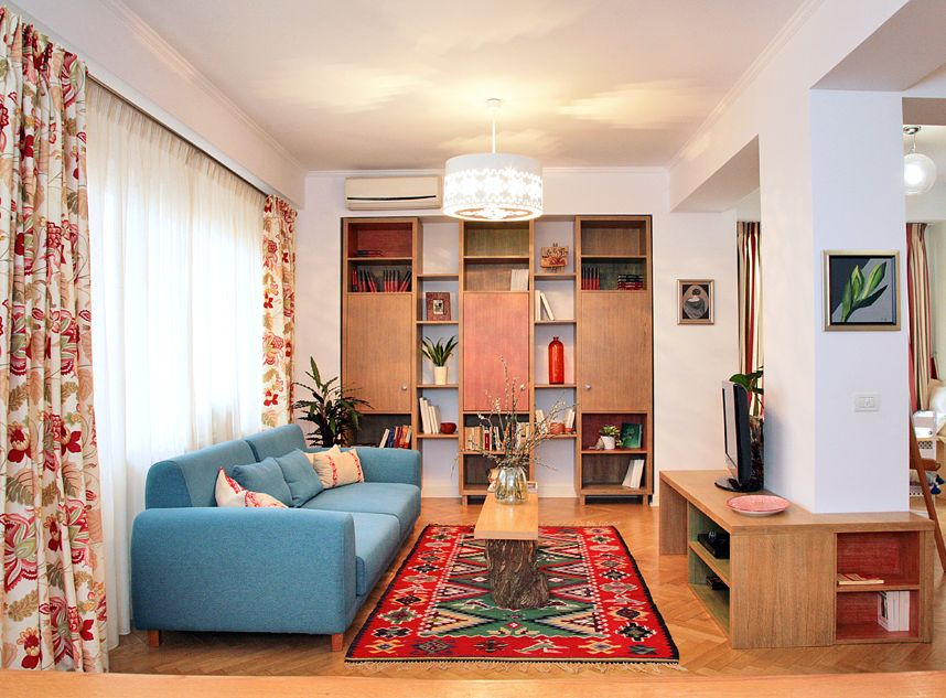adelaparvu.com despre apartament de trei camere amenajat in stil traditional romanesc reinterpretat, design interior Valdecor, Alia Bakutayan si Daniel Tufis (111)
