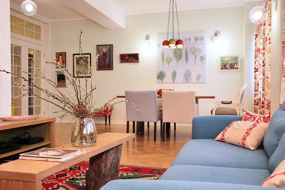 adelaparvu.com despre apartament de trei camere amenajat in stil traditional romanesc reinterpretat, design interior Valdecor, Alia Bakutayan si Daniel Tufis (4)