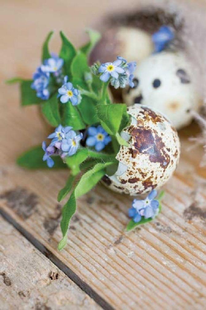adelaparvu.com despre aranjamente cu oua si flori pentru masa de Paste, Foto Weranda Country (1)