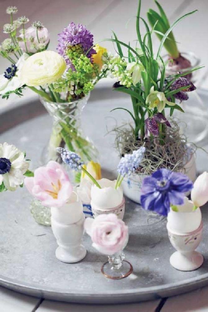 adelaparvu.com despre aranjamente cu oua si flori pentru masa de Paste, Foto Weranda Country (11)