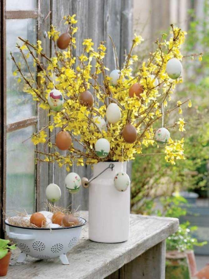 adelaparvu.com despre aranjamente cu oua si flori pentru masa de Paste, Foto Weranda Country (3)