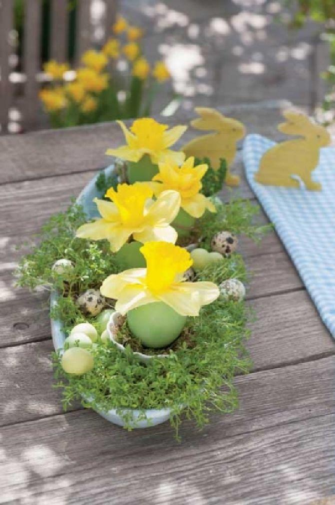 adelaparvu.com despre aranjamente cu oua si flori pentru masa de Paste, Foto Weranda Country (4)