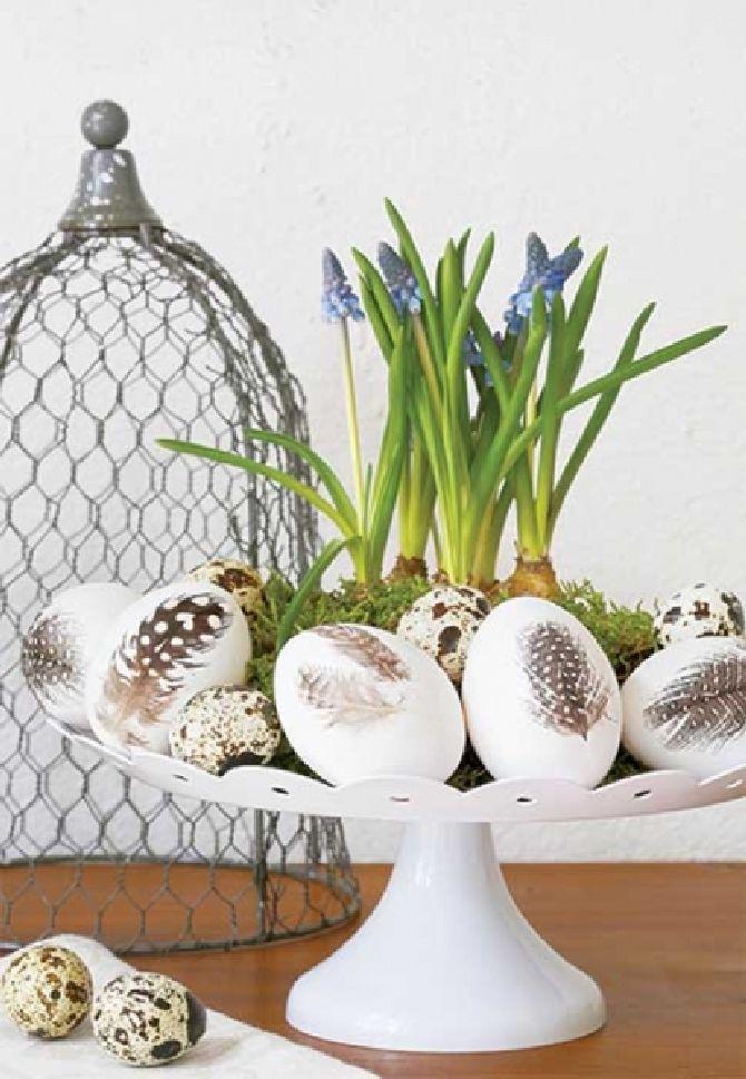adelaparvu.com despre aranjamente cu oua si flori pentru masa de Paste, Foto Weranda Country (9)