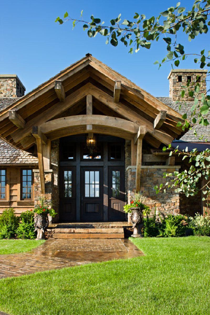 adelaparvu.com despre casa din lemn si piatra SUA, Bozeman, Montana, arhitectuta Locati Architects, Foto Roger Wade Studio (1)