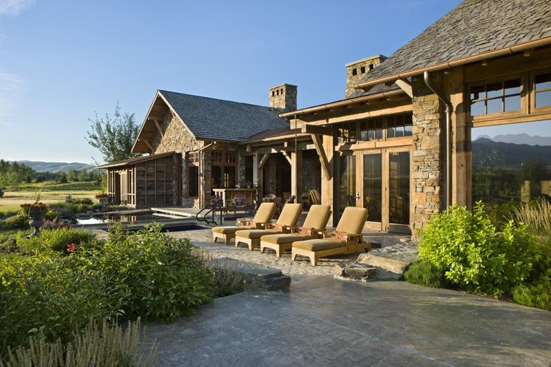 adelaparvu.com despre casa din lemn si piatra SUA, Bozeman, Montana, arhitectuta Locati Architects, Foto Roger Wade Studio