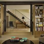 adelaparvu.com despre casa in stil Tudor cu biblioteci frumoase, arhitectura DeForest Architects, design interior NB Design, Foto Benjamin Benschneider (4)