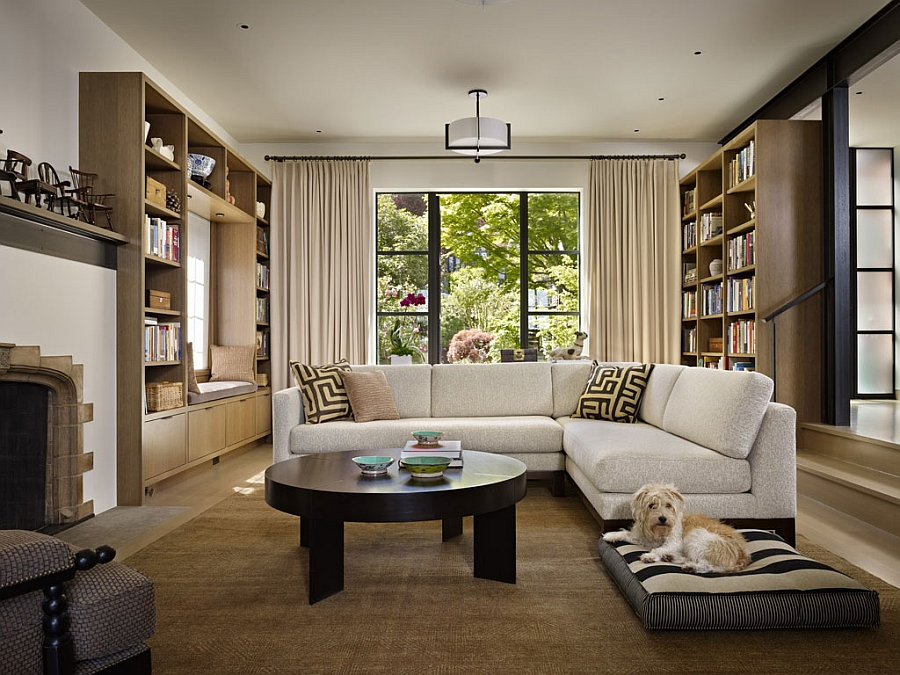 adelaparvu.com despre casa in stil Tudor cu biblioteci frumoase, arhitectura DeForest Architects, design interior NB Design, Foto Benjamin Benschneider (5)